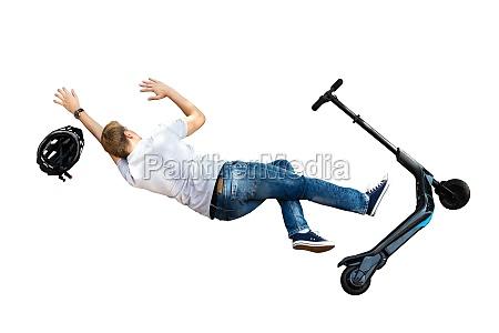 elektro e scooter kollisionsunfall