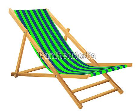strandstuhl sommer entspannen gruene illustration
