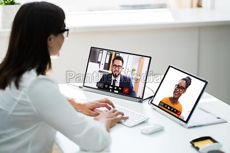 webinarbesprechung fuer videokonferenzen online ansehen