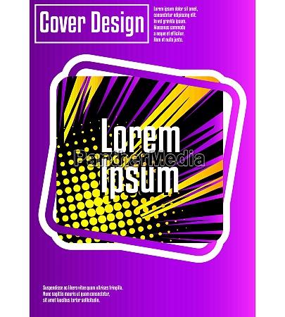 cover design vorlage mit comic elementen