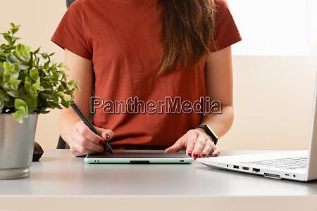schoene grafik designer zeichnung digitales design