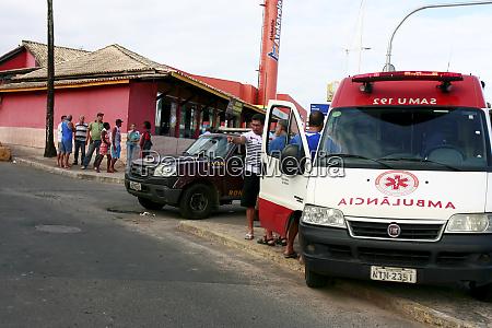 mittlere pflege mit samu ambulanz