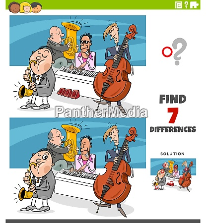 differences educational game with jazz band