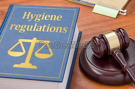 gesetzbuch mit einem gaben hygienevorschriften
