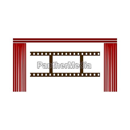 cinema theater auditorium icon