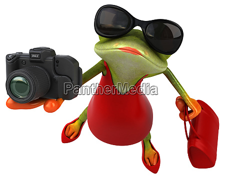 spass frosch 3d illustration