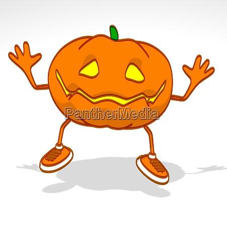 spass 3d cartoon halloween kuerbis