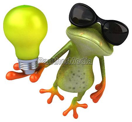 spass frosch 3d illustration