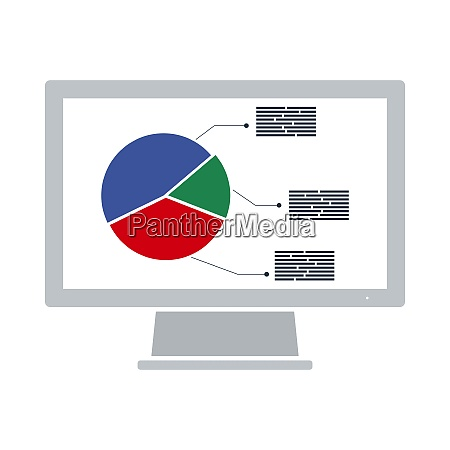 monitor mit analytics diagramm symbol