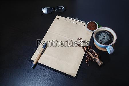 vintage briefpapier kaffee