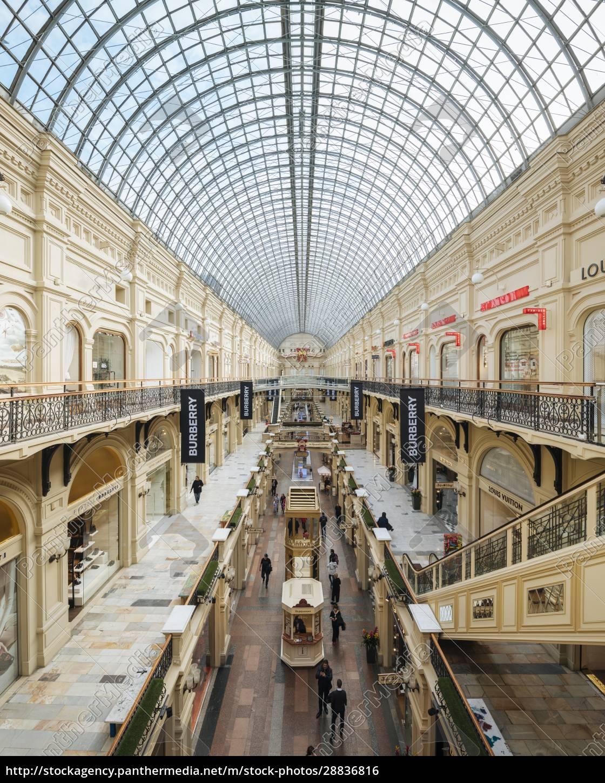 innenraum, des, gum, shopping, center, moskau, oblast, moskau, russland, europa - 28836816