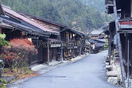 traditionelle, gebäude, am, nakasendo, way, tsumago, präfektur, gifu, honshu, japan, asien - 28837663