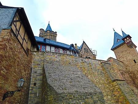 historische burg aus vergangenen zeiten