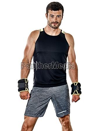 fitness mann cardio boxen UEbungen isoliert