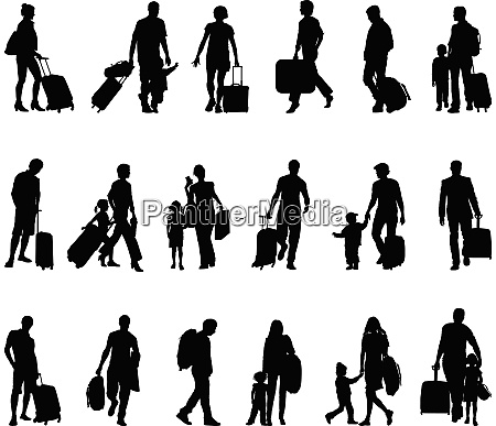 menschen touristen reisende migranten fluechtlinge
