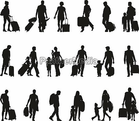 menschen, -, touristen, reisende, migranten, flüchtlinge - 28851961
