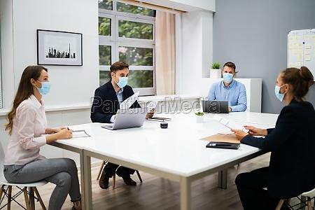 job interview business meeting in der