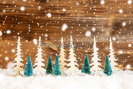 weihnachtsbaum schnee holz hintergrund kopie randraum