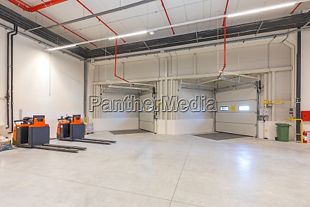 inside loading bay