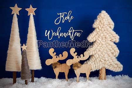 weihnachtsbaum elch schnee frohe weihnachten bedeutet