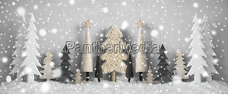 banner, weihnachtsbäume, schnee, gelber, hintergrund, frohe, weihnachten - 28888268