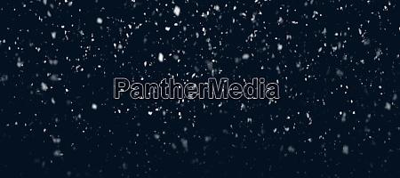 starker schneefall mit echten schneeflocken