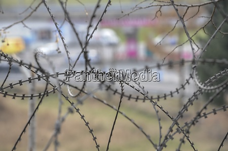 barbed, wire, fence, at, the, border - 28908679