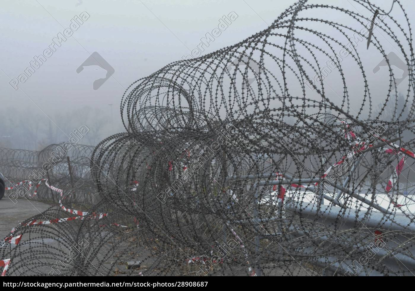 barbed, wire, fence, at, the, border - 28908687