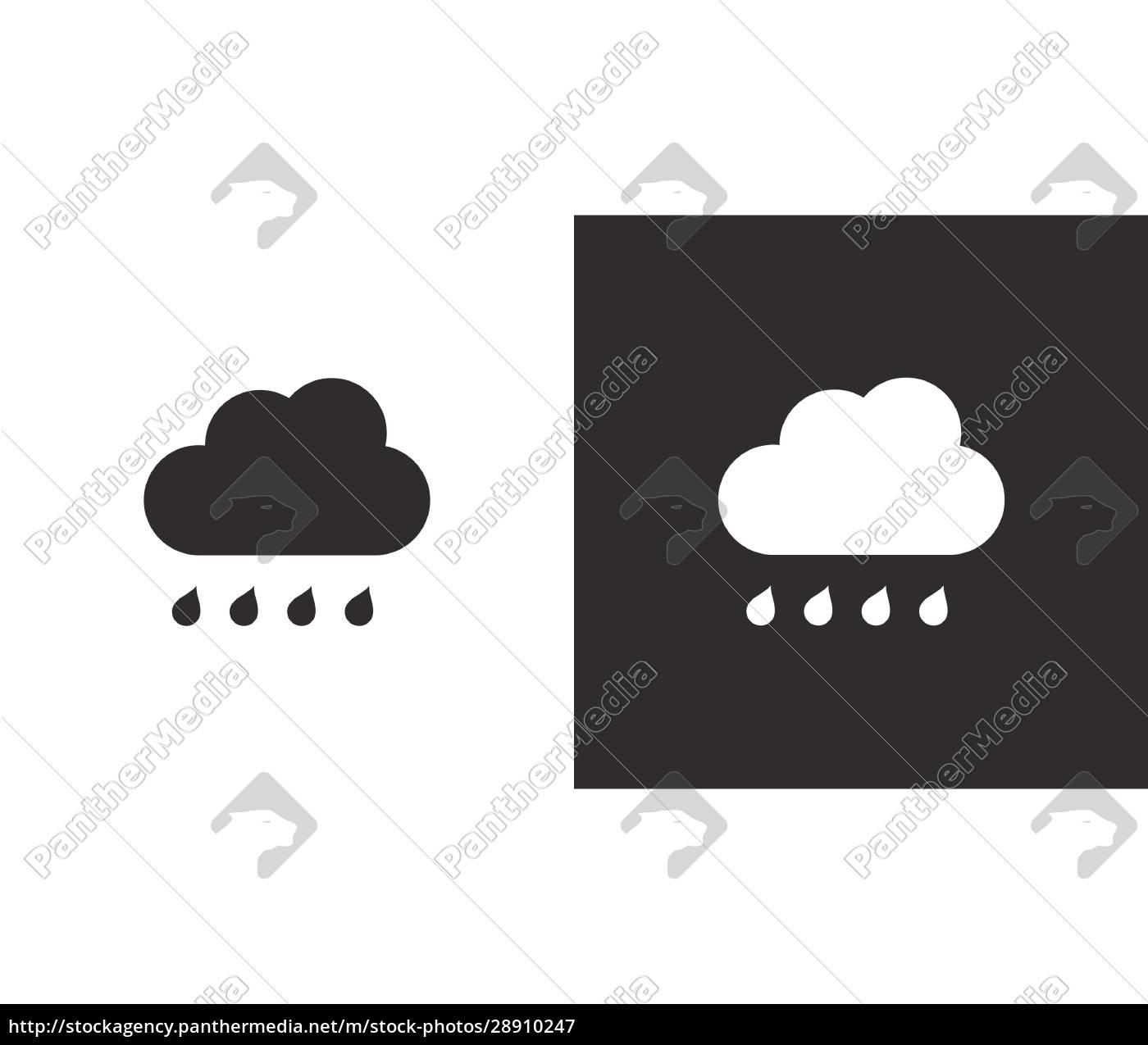 wolke, und, regentropfen., isoliertes, symbol, auf - 28910247
