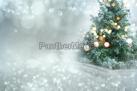 weihnachten winter bokeh hintergrund