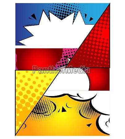 comic buch design hintergrund cartoon illustration