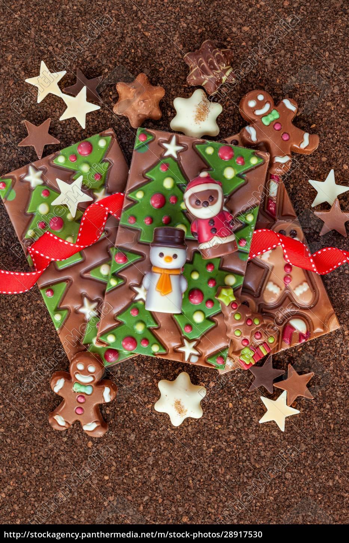köstliche, pralinen, zu, weihnachten - 28917530