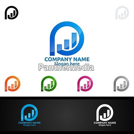 buchstabe p fuer digital logo marketing