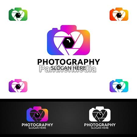 abstrakte kamera fotografie logo icon vektor