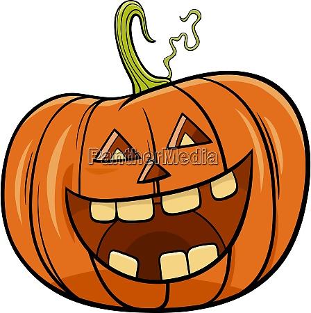 halloween kuerbis charakter cartoon illustration