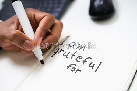 gratitude journal konzept