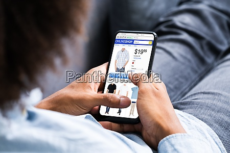 afroamerikanischer e commerce online shopping