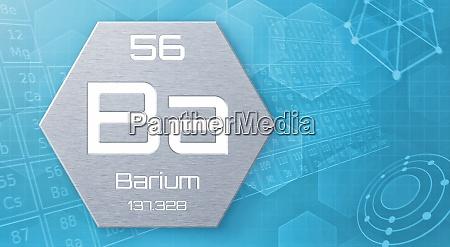 chemisches element des periodensystems barium