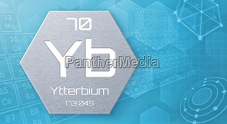 chemisches element des periodensystems ytterbium