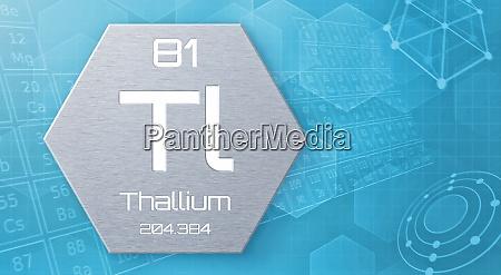 chemisches element des periodensystems thallium