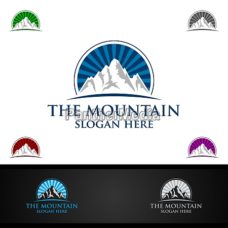 mountain logo design konzept fuer natursport