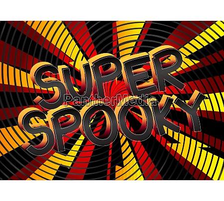 super spooky comic buch stil cartoon