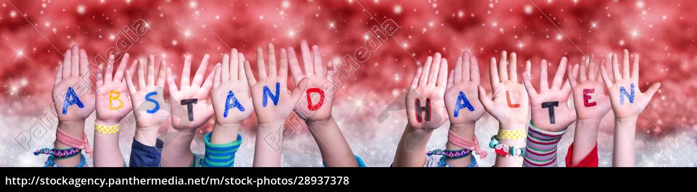kinder, hände, abstand, halten, bedeutet, abstand - 28937378