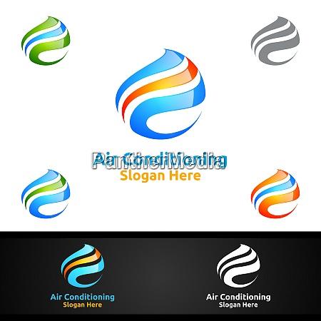 logo fuer klimaanlagen und heizungsdienste