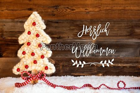stoff weihnachtsbaum ball schnee herzlich willkommen
