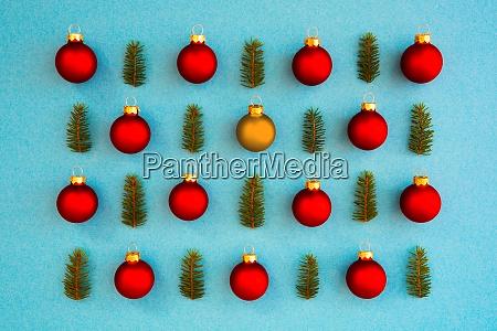 weihnachten textur rote kugel und ein