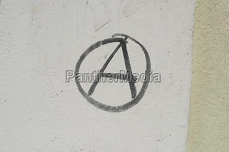 der buchstabe a im kreis symbol