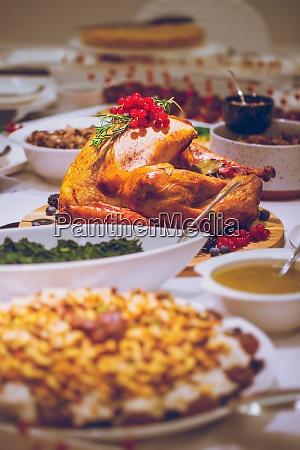 leckeres thanksgiving dinner