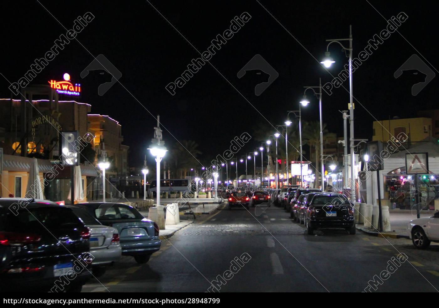 view, of, night, street, of, hurghada - 28948799