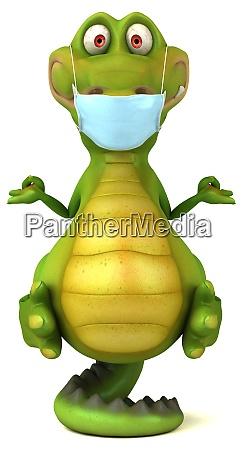 spass 3d cartoon krokodil mit einer